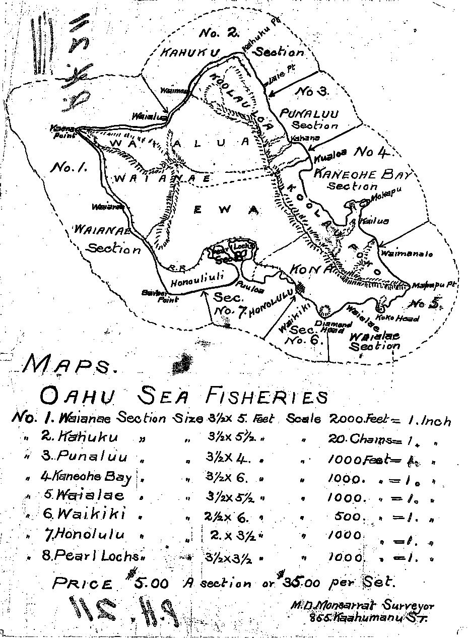 index to oahu fisheries maps
